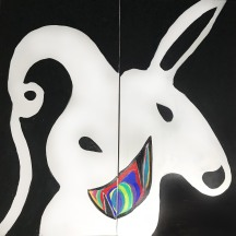 """Hollow Party Monster 36"""" x 18"""" 