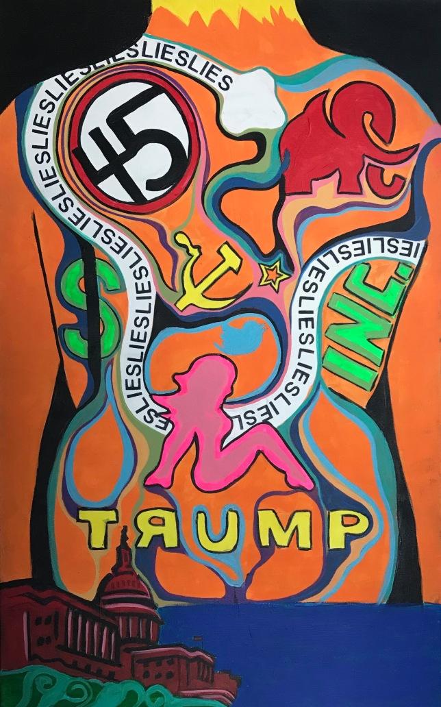 "Trump Stamp 48"" x 30"" | $550"